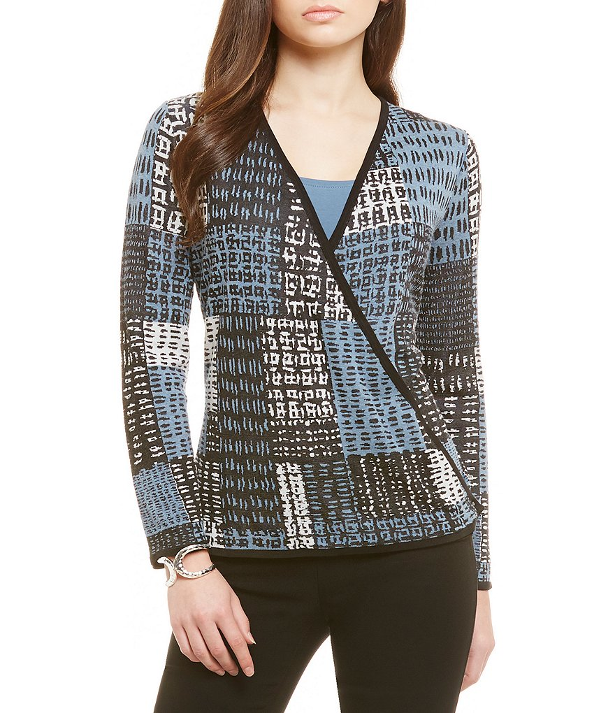 ZOZO Checker Blocked Four Way Cardigan