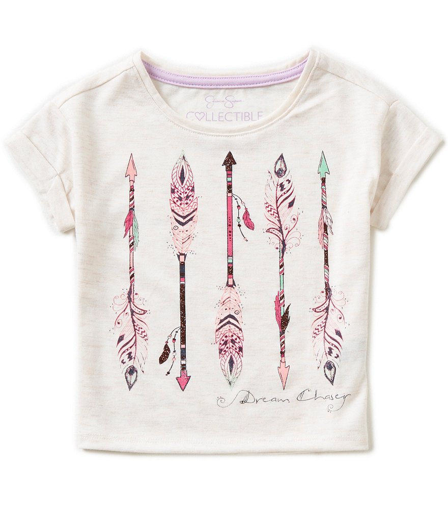 Jessica Simpson Big Girls 7-16 Ashlen Dream Chaser Graphic Tee