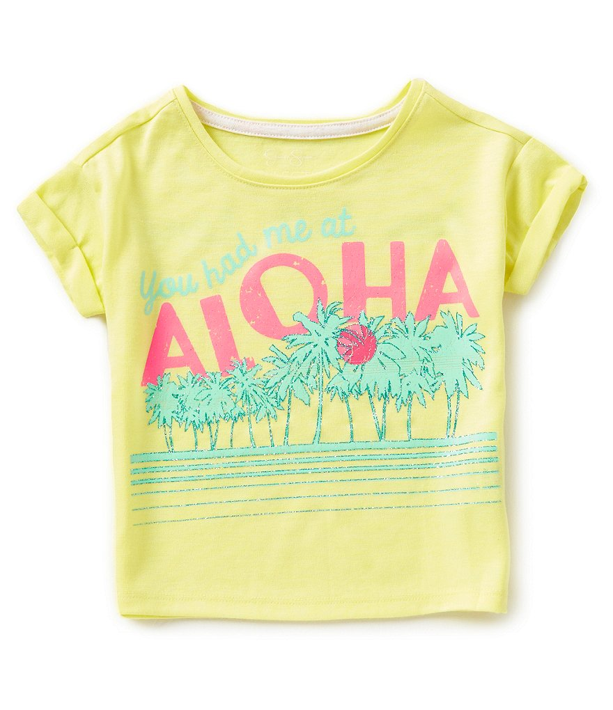 Jessica Simpson Little Girls 2T-6X Ashlen Aloha Tee
