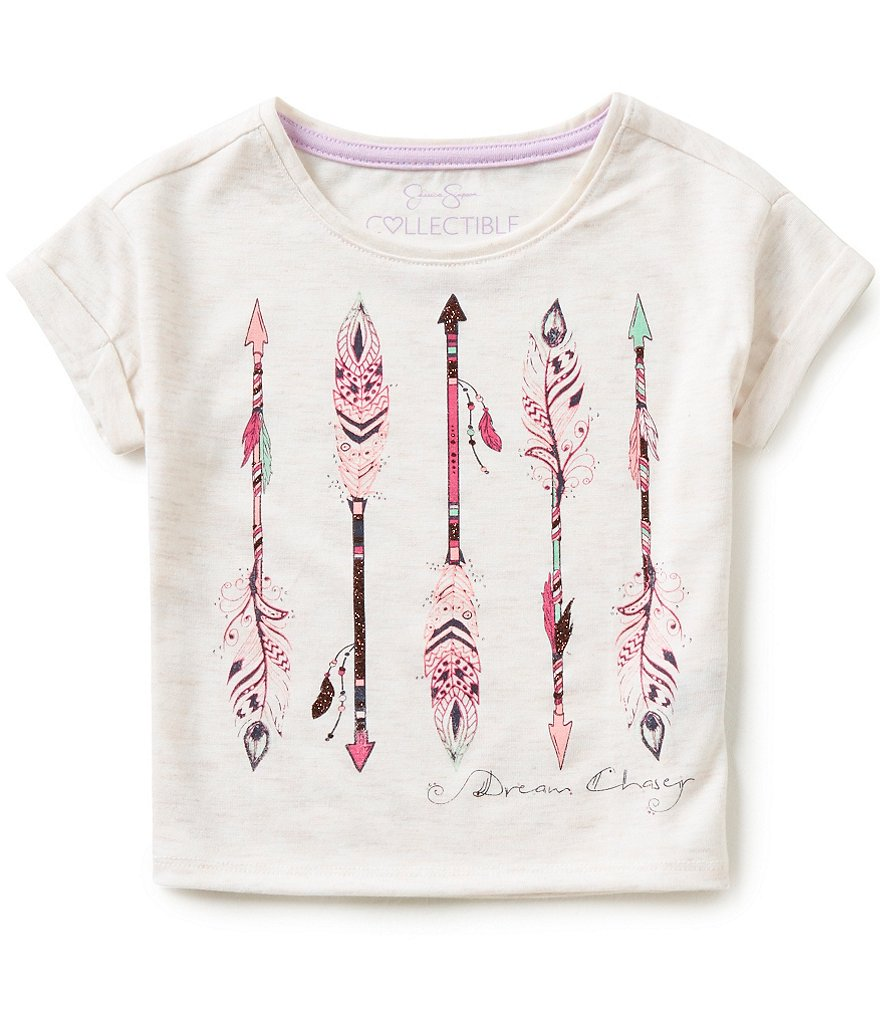 Jessica Simpson Little Girls 2T-6X Ashlen Dream Chaser Arrow Print Tee