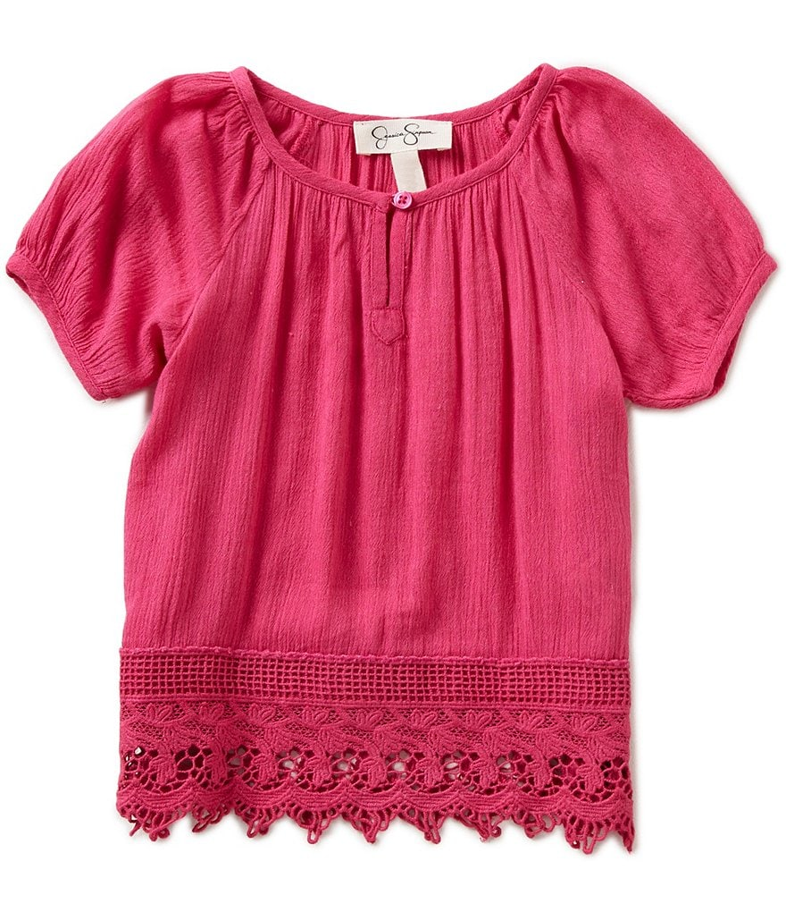 Jessica Simpson Little Girls 2T-6X Nicole Peasant Top