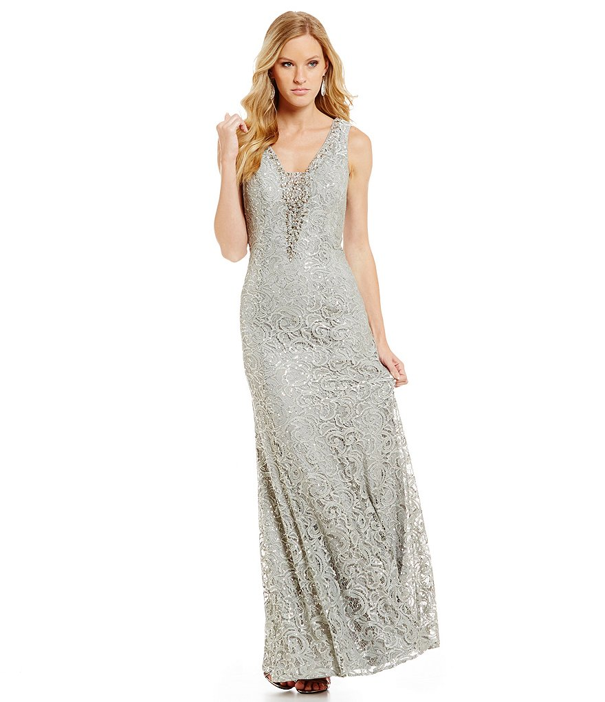 Ignite Evenings Sequin Lace Mermaid Gown