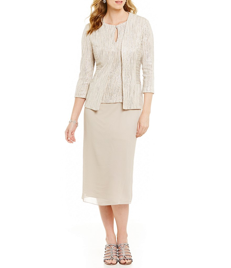 Alex Evenings Petite Jacket Dress