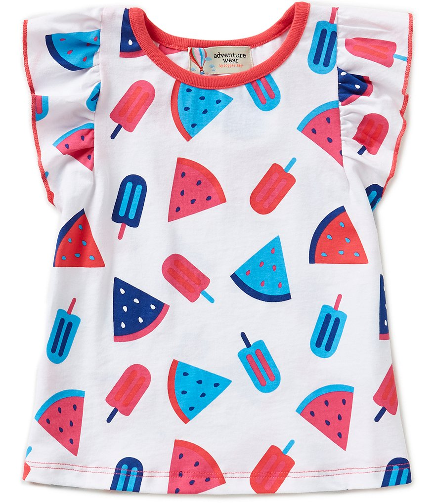 Adventure Wear by Copper Key Little Girls 2T-4T Allover Popsicle-Print Top