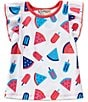 Color:White - Image 1 - Adventure Wear by Copper Key Little Girls 2T-4T Allover Popsicle-Print Top