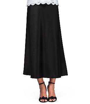 Alex Evenings Petite Tea-Length A-Line Skirt
