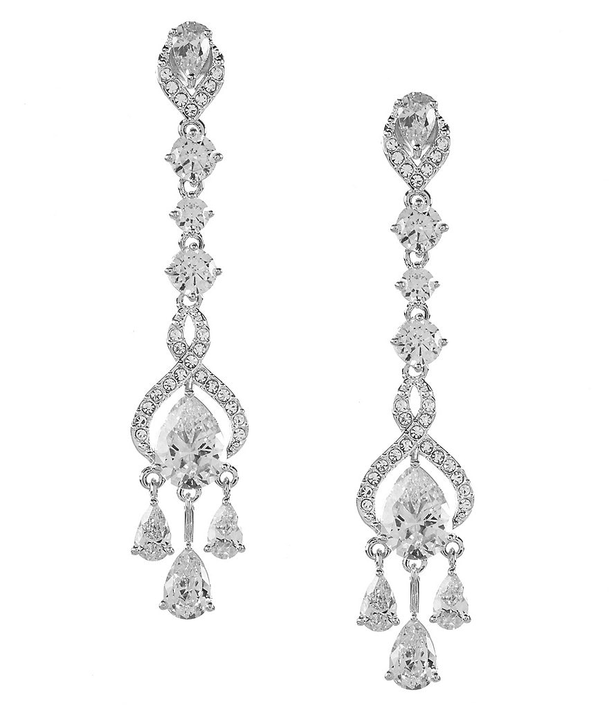 Nadri Infinity CZ Linear Drop Earrings
