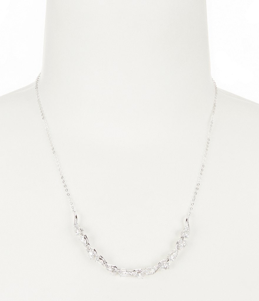 Nadri Infinity Cubic Zirconia Collar Necklace