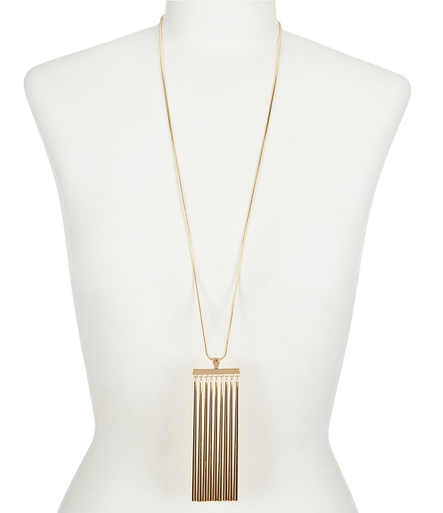Trina Turk Raver Bar Pendant Necklace