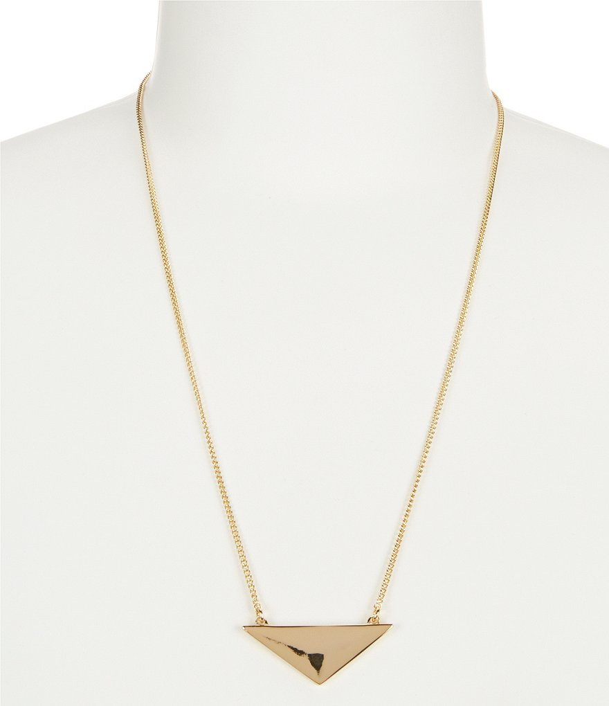 Trina Turk Raver Triangle Pendant Necklace