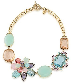 Carolee The Hamptons Turquoise Stone Frontal Necklace