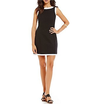 Lauren James Harper Solid-Trim Dress