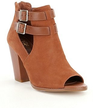 GB Wrap-Up Buckled Detail Peep-Toe Shooties