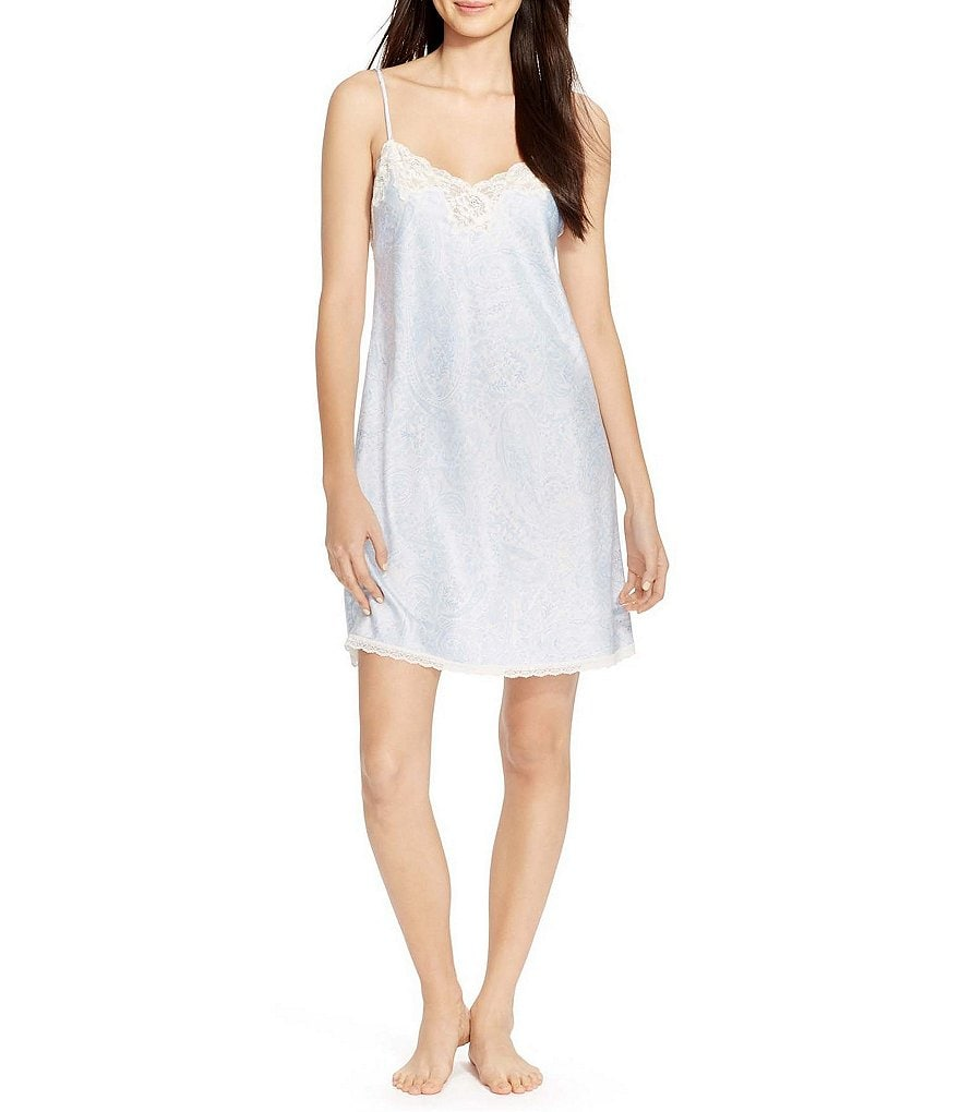 Lauren Ralph Lauren Signature Collection Satin Chemise