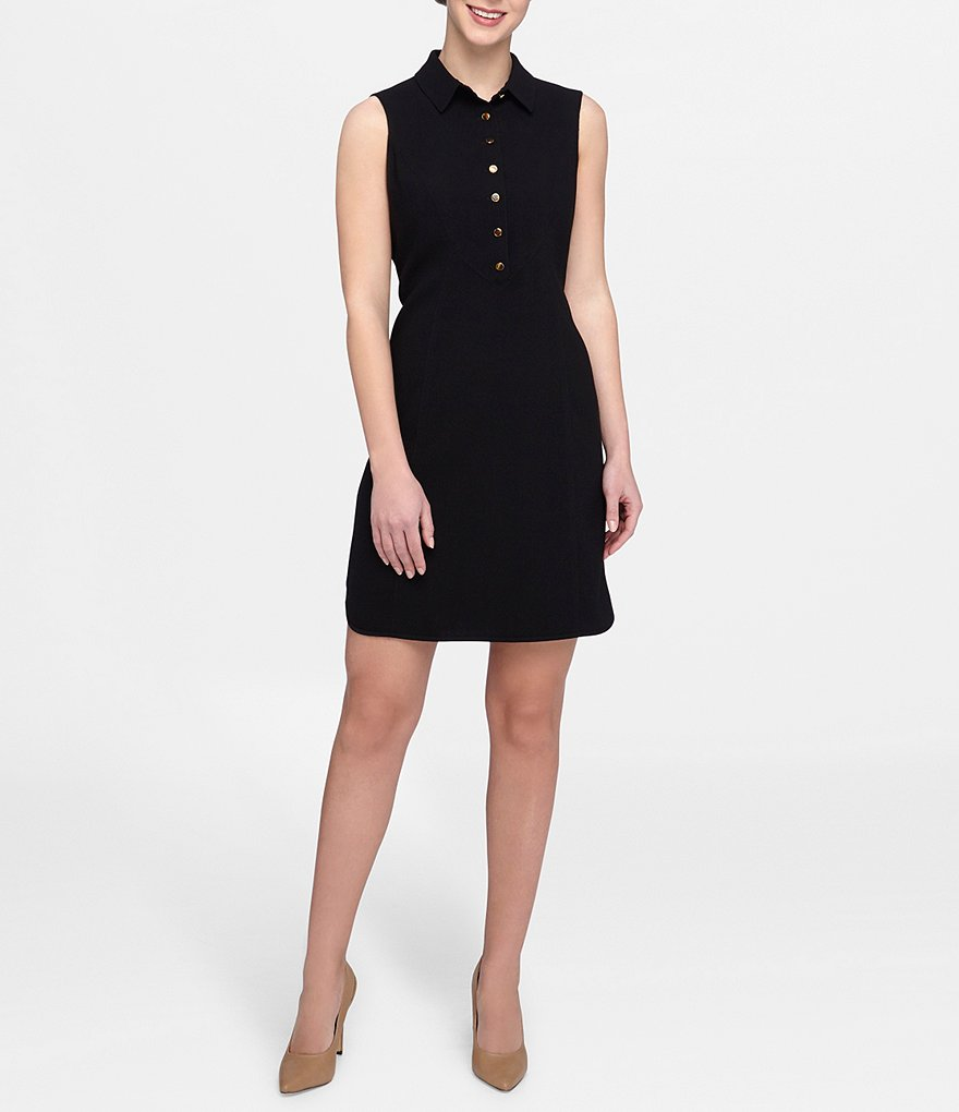 Tahari ASL Crepe Shirt Dress