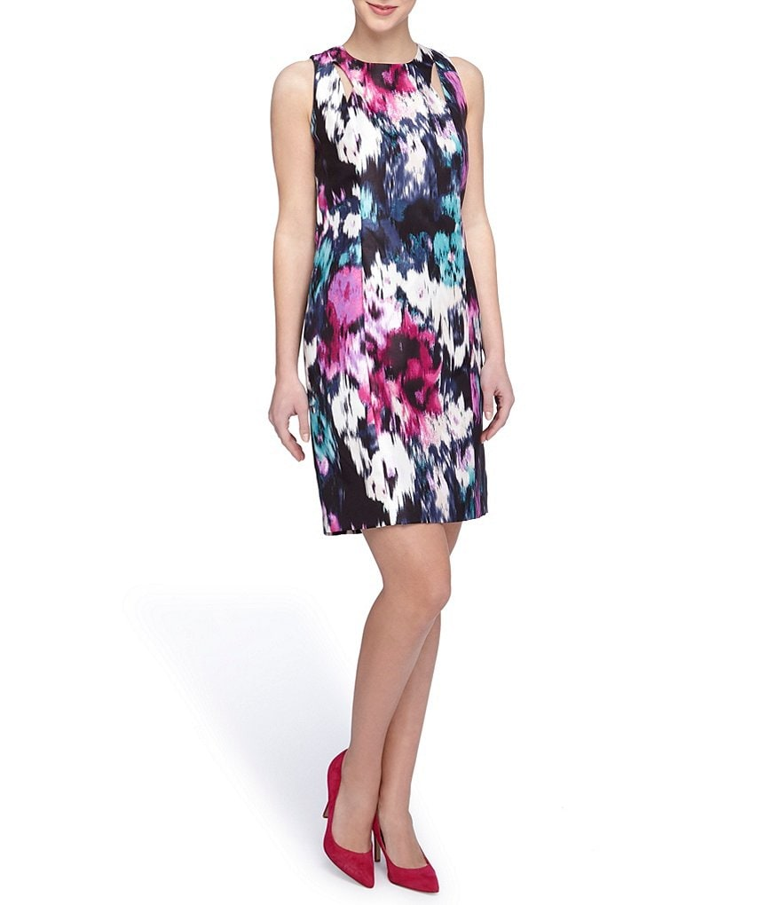 Tahari ASL Floral Ikat Shift Dress
