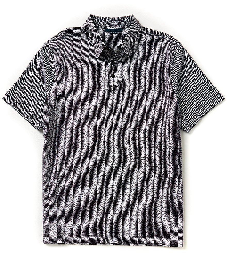 Perry Ellis Short-Sleeve Printed Polo Shirt