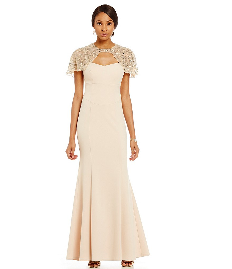 Decode 1.8 Beaded Shoulder Gown