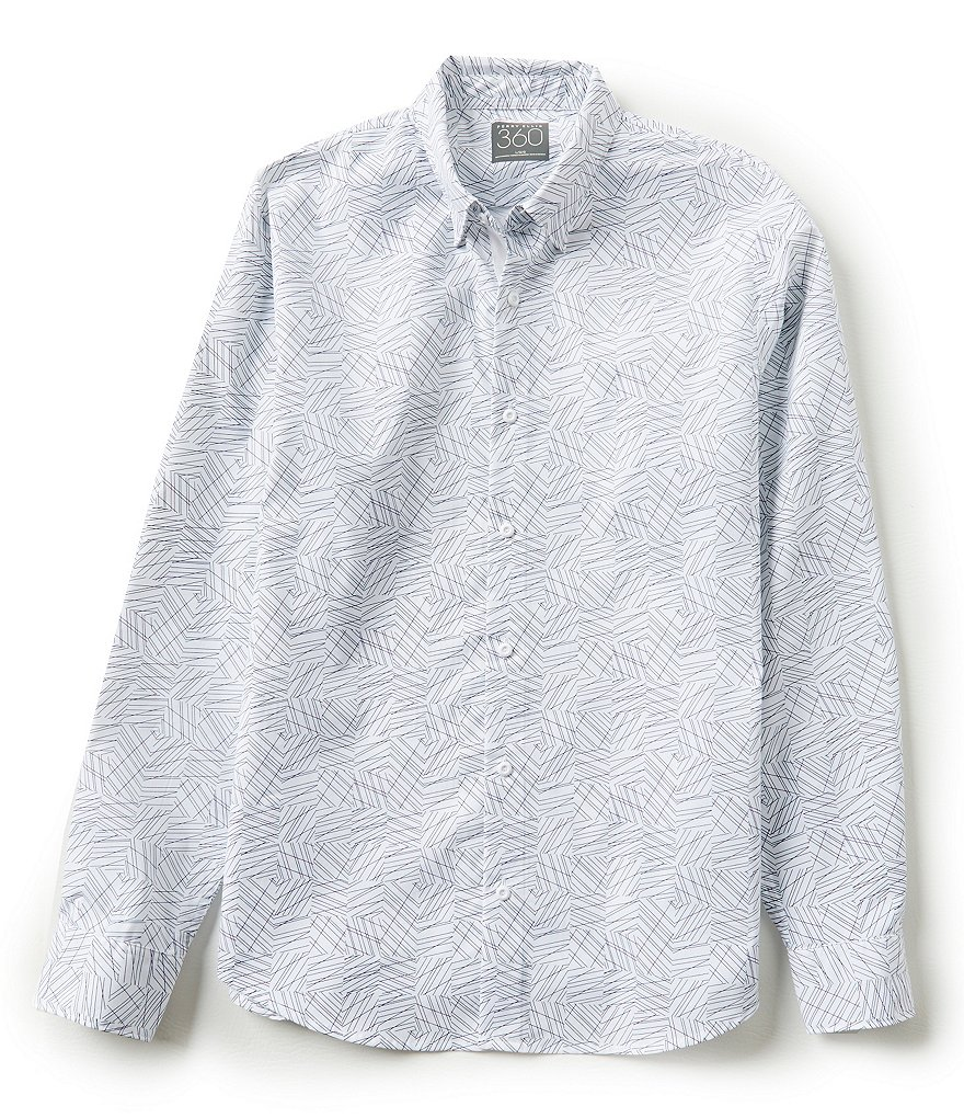 Perry Ellis Long-Sleeve Geo Print Woven Shirt