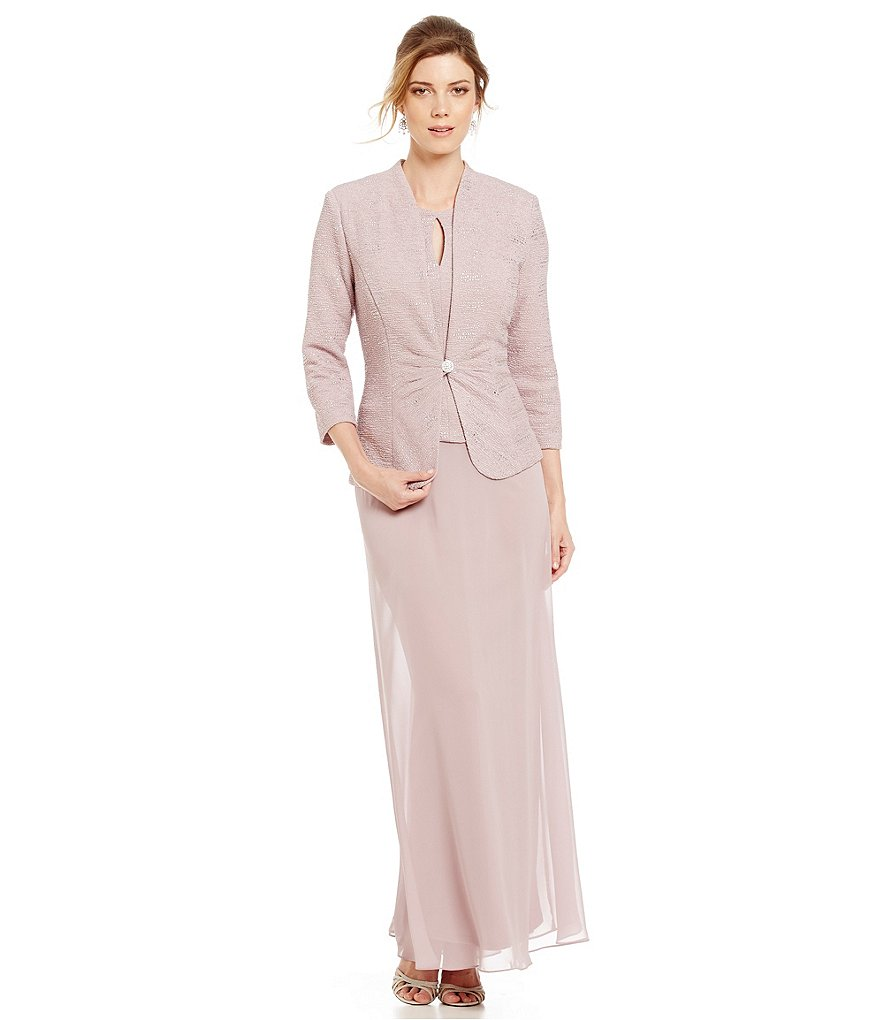 Alex Evenings Keyhole Long Jacket Dress