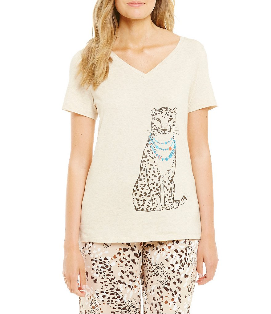 Sleep Sense Fancy Cheetah Jersey Sleep Top