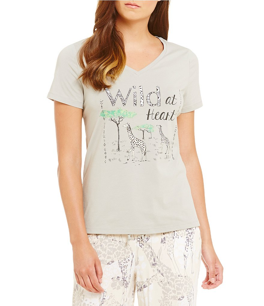 Sleep Sense Wild at Heart Jersey Sleep Top