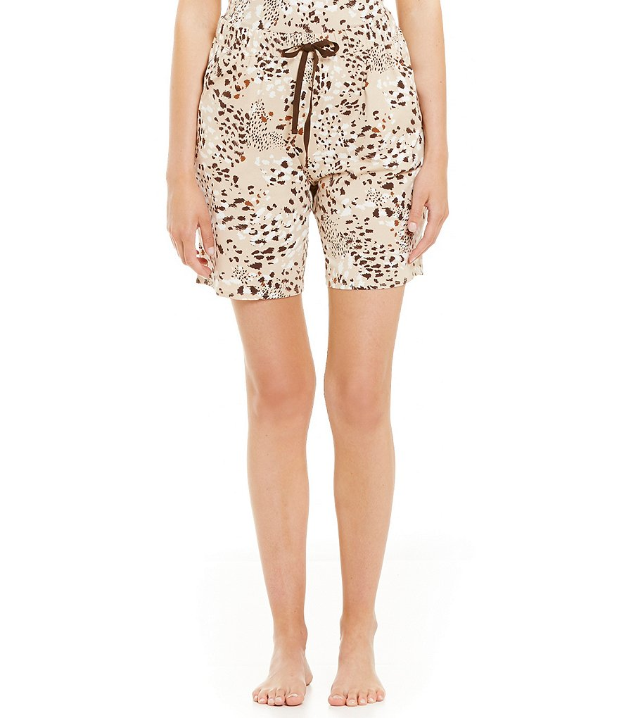 Sleep Sense Cheetah-Print Jersey Sleep Shorts