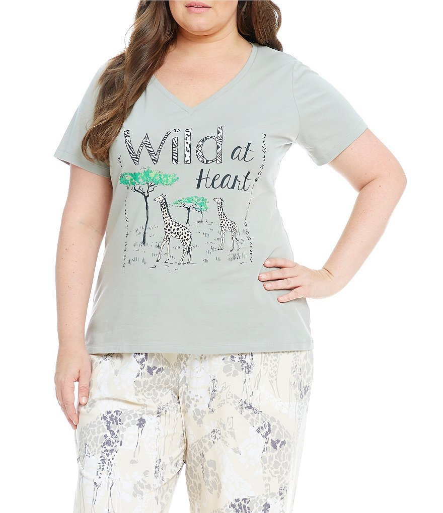 Sleep Sense Plus Wild at Heart Jersey Sleep Top