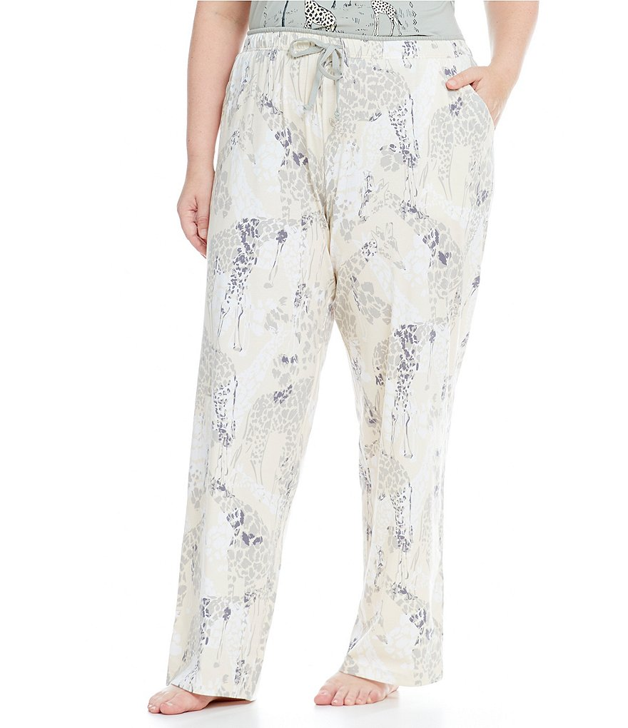 Sleep Sense Plus Giraffe-Print Jersey Sleep Pants