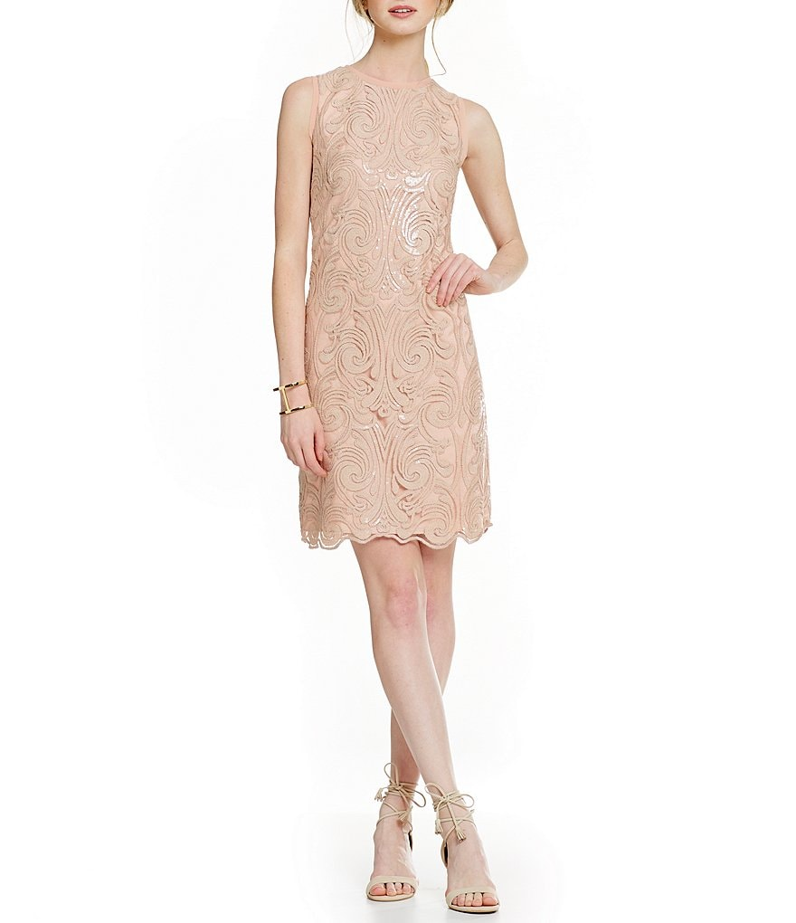 Vince Camuto Swirl Sequin Dress