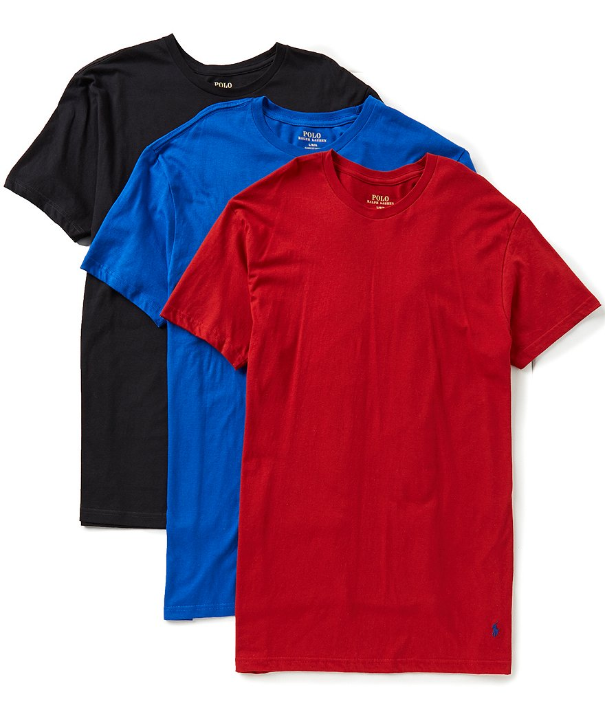 Polo Ralph Lauren Solid Jersey Crewneck Assorted 3-Pack