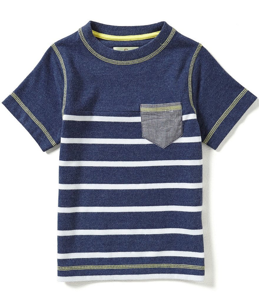 Class Club Little Boys 2T-7 Striped Pocket Tee