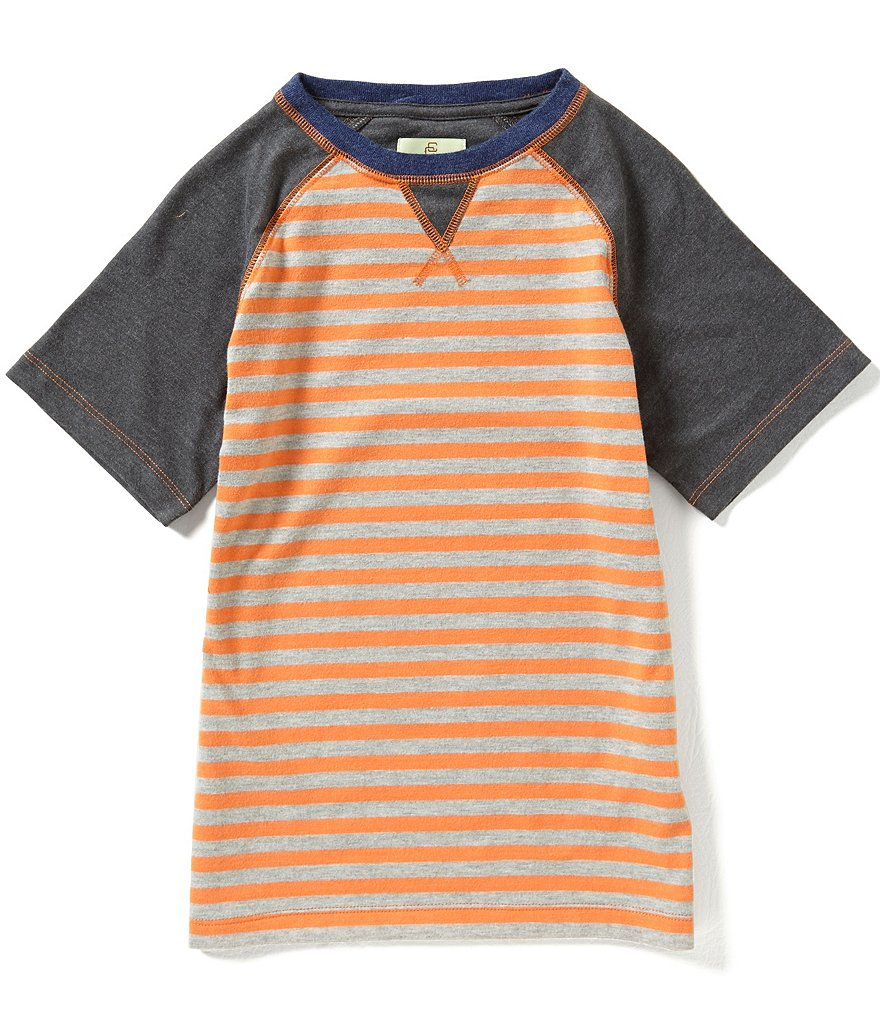 Class Club Big Boys 8-20 Striped Raglan Tee
