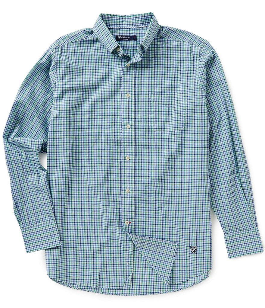 Cremieux Long-Sleeve Poplin Woven Plaid Shirt