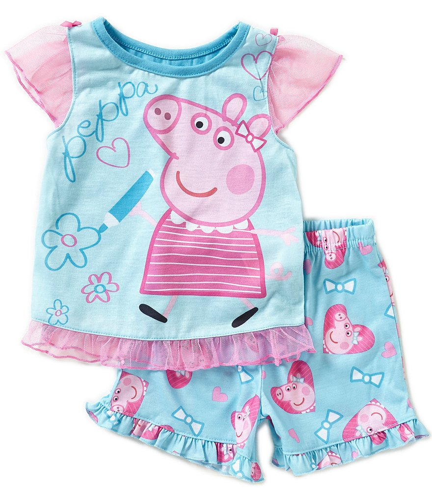 Komar Kids Little Girls 2T-4T Peppa Pig Sleep Top & Shorts Set