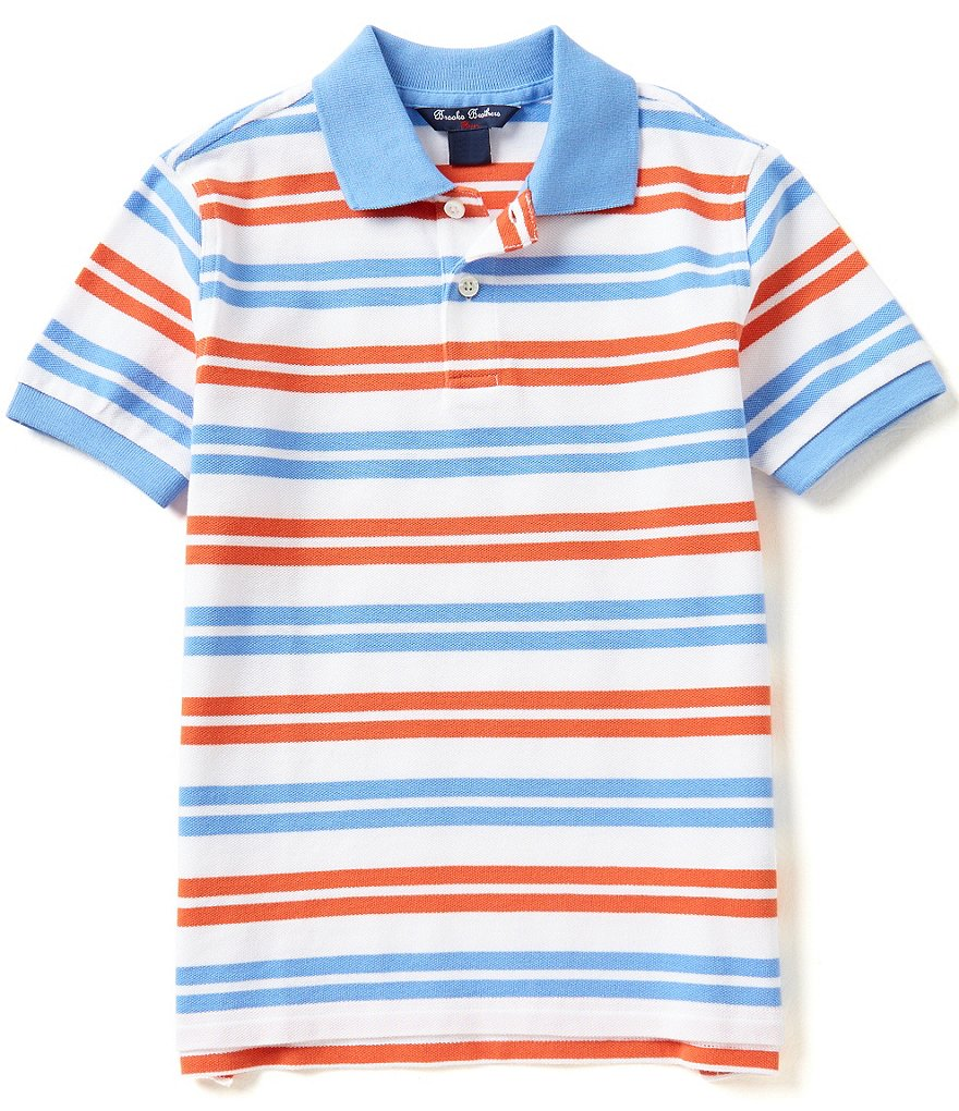 Brooks Brothers 4-20 Double Striped Pique Polo