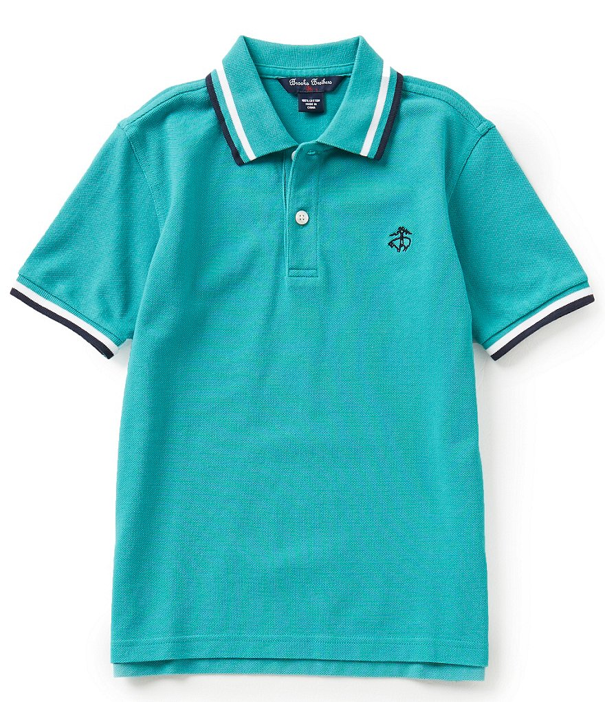 Brooks Brothers 4-20 Solid Pique Polo Shirt