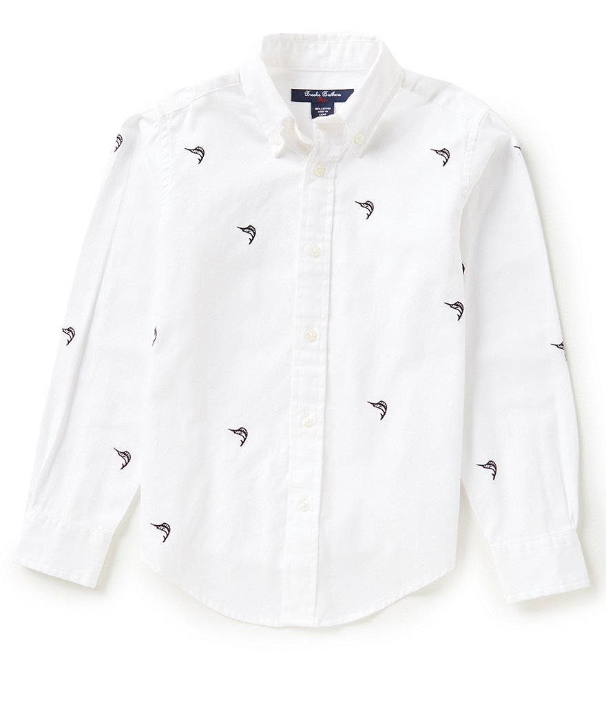 Brooks Brothers 4-20 Marlin Schiffli Embroidered Shirt
