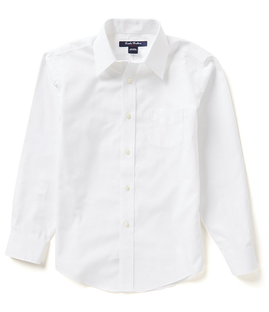 Brooks Brothers Little/Big Boys 4-20 Mini Oxford Point Collar Dress Shirt