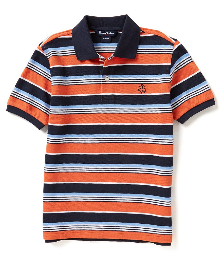 Brooks Brothers 4-7 Striped Pique Polo