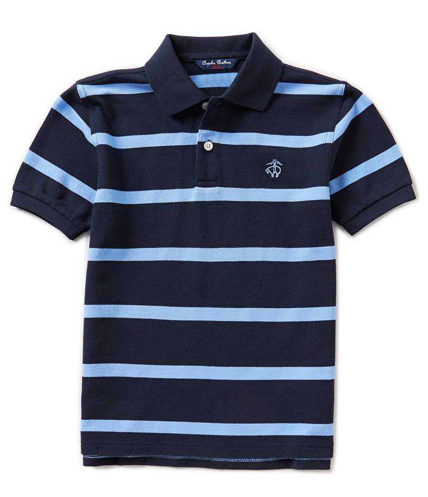 Brooks Brothers 4-7 Striped Pique Classic Polo