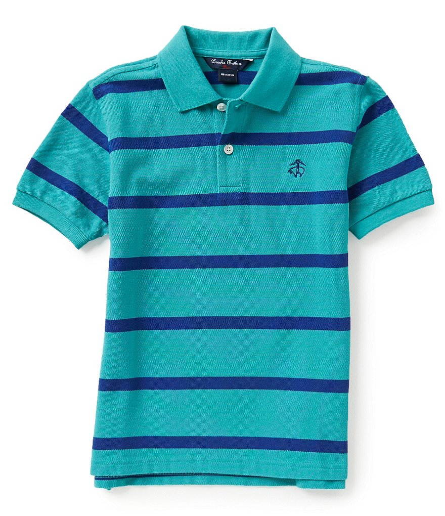 Brooks Brothers Striped Pique Classic Polo