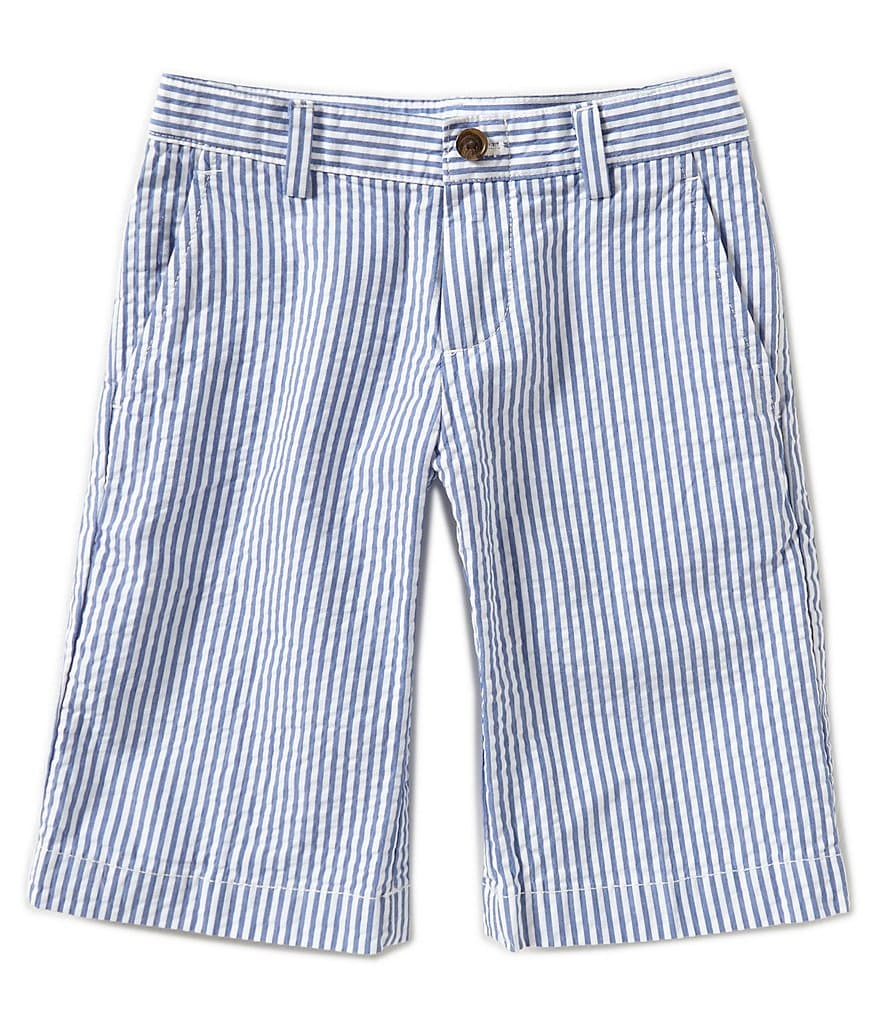 Brooks Brothers 4-20 Flat-Front Seersucker Shorts
