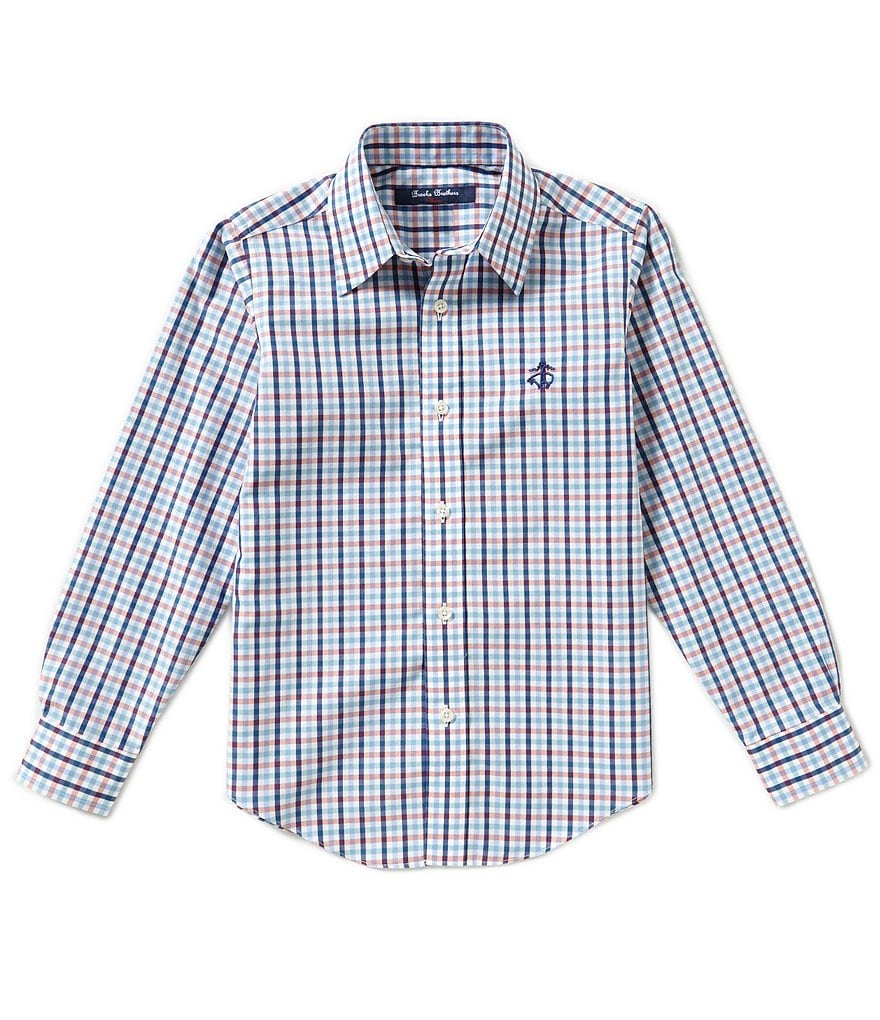 Brooks Brothers 4-20 Non-Iron Multi Checked Woven Shirt