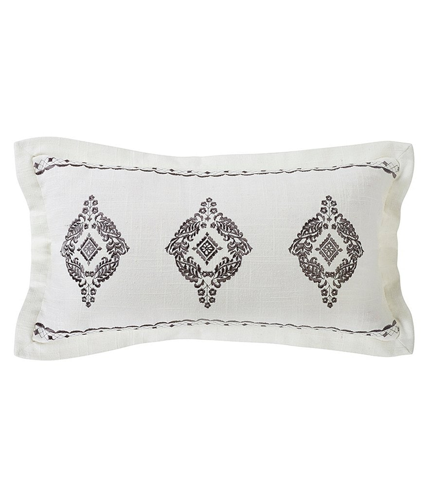 HiEnd Accents Charlotte Embroidered Pillow