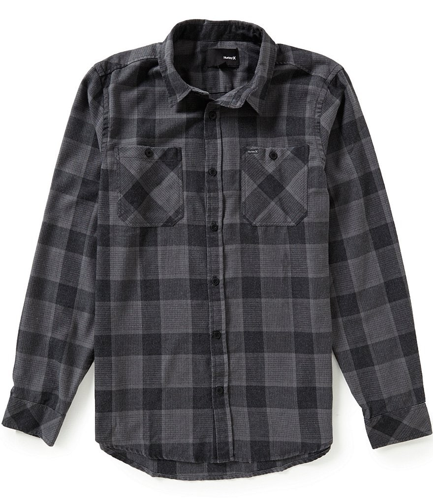 Hurley Long-Sleeve Landon Flannel Plaid Shirt