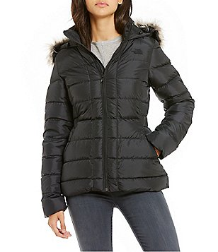 The North Face Gotham Faux-Fur Trim Water Repellent Down Jacket