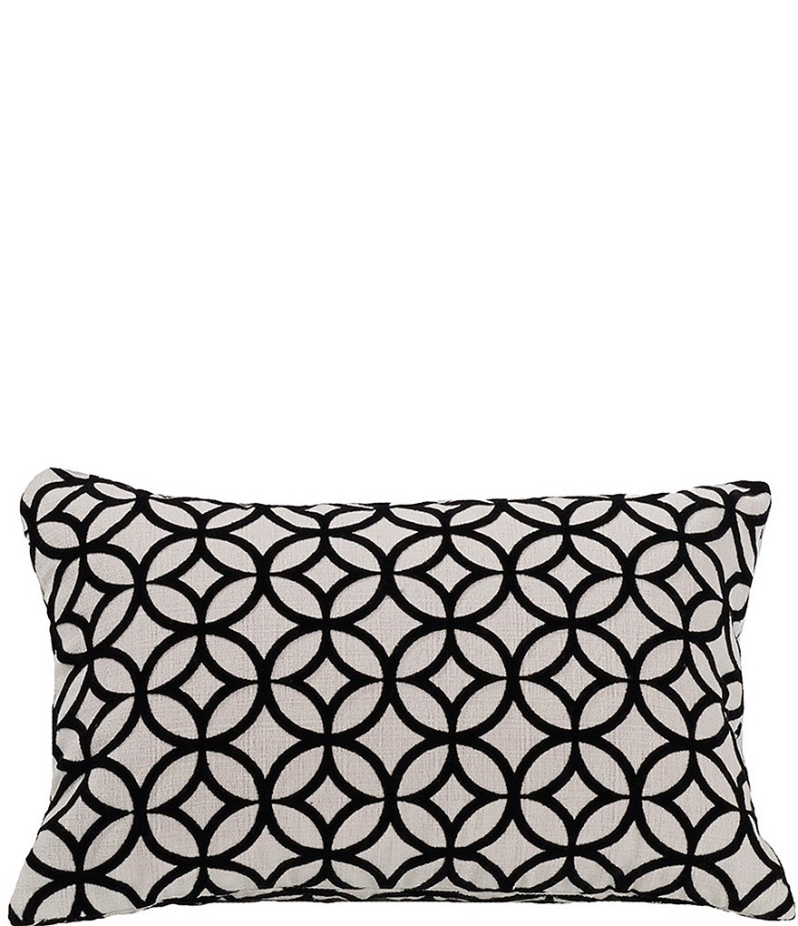 HiEnd Accents Augusta Geometric Velvet Pillow