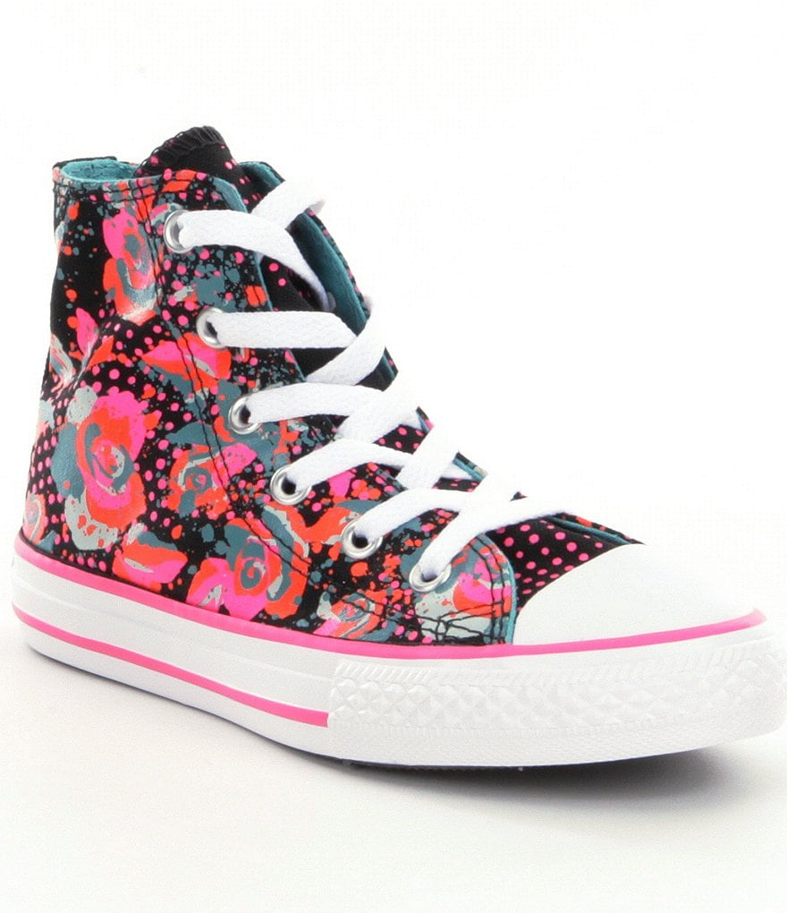 Converse All Star® Girls´ Floral/Dotted Print High-Top Sneakers