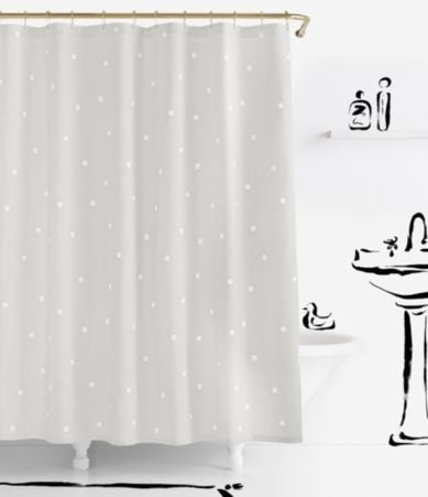 Curtains Ideas black shower curtain with white flower : Home | Bath & Personal Care | Shower Curtains & Rings | Dillards.com